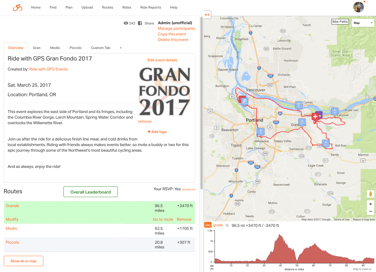 Create an Event | Ride With GPS Help