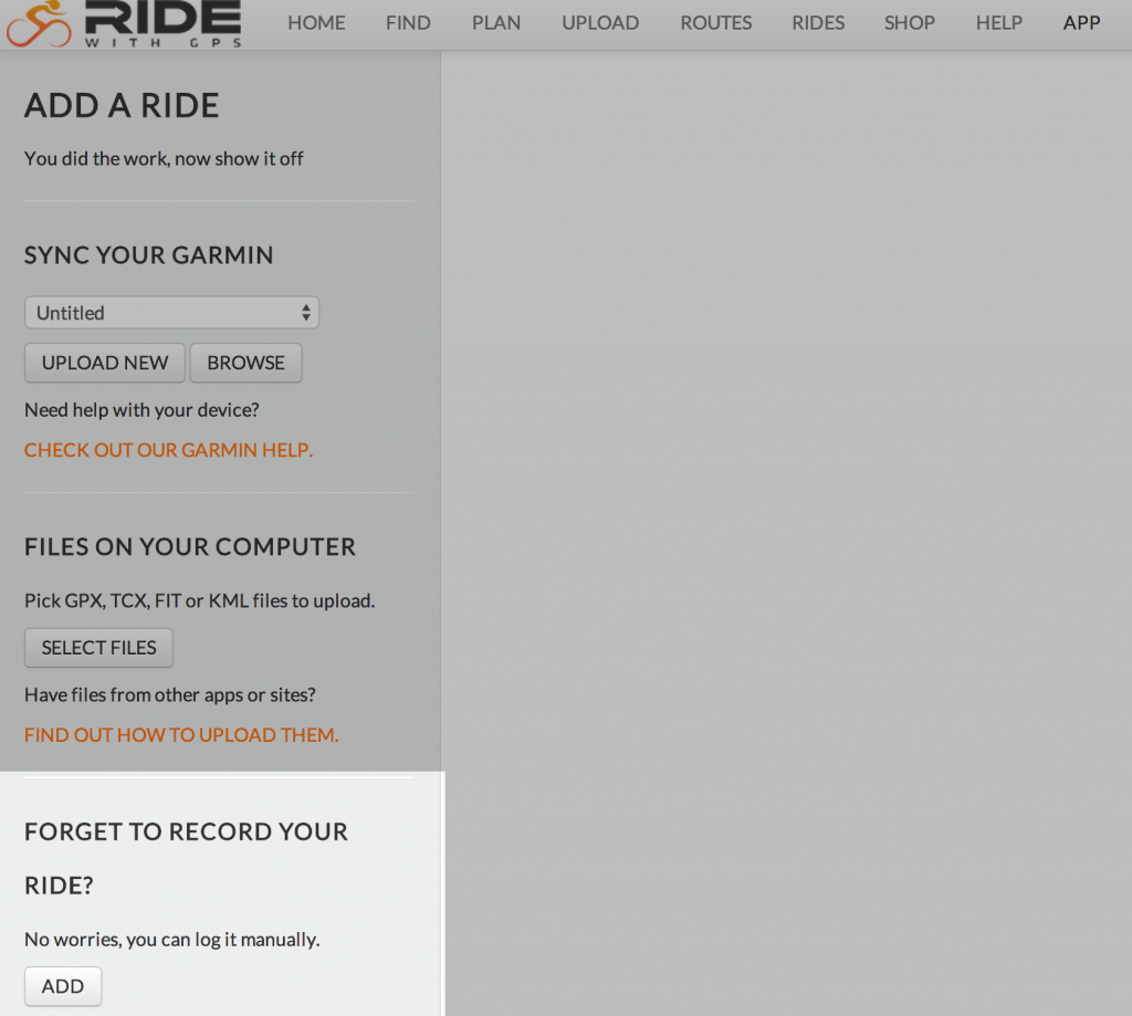 Uploading Rides | Ride With GPS Help