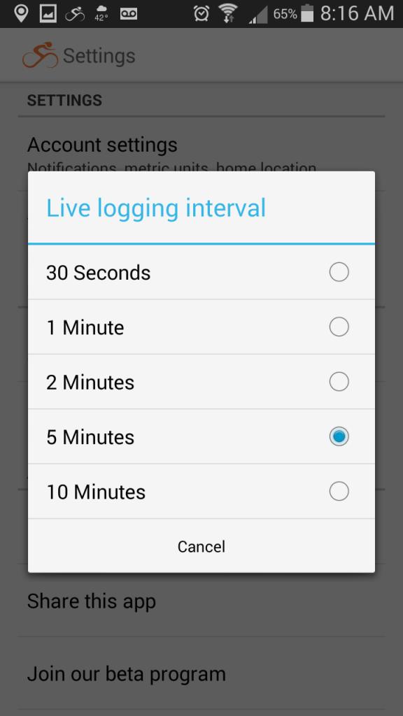 Android-LiveLogging-Intervals