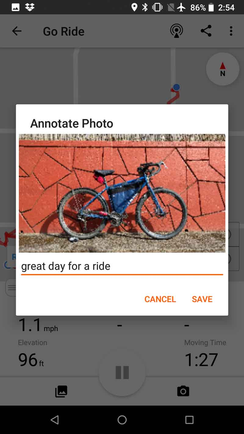 Taking and sharing photos on the mobile app   Ride With GPS Help