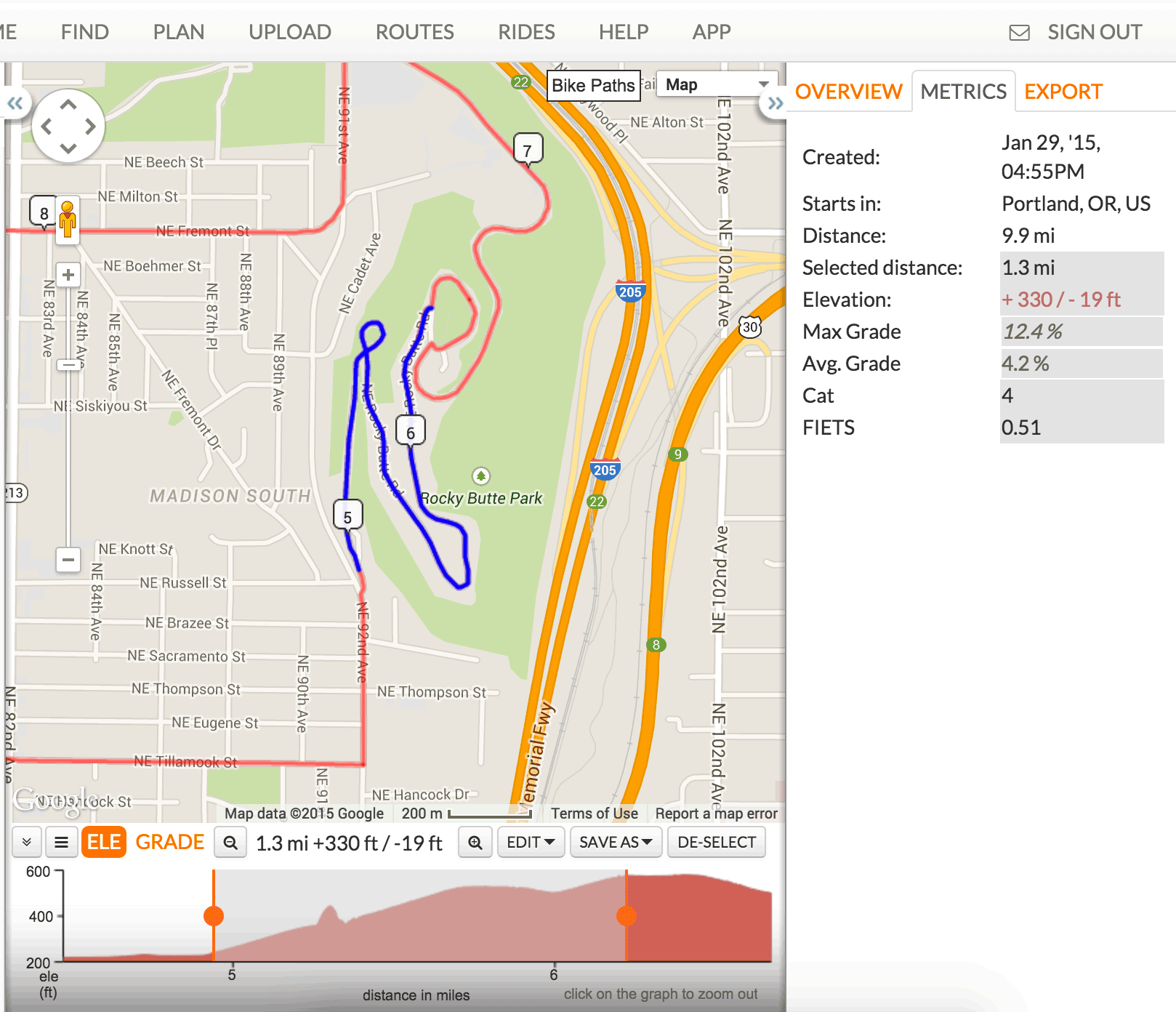 elevation-route-metrics