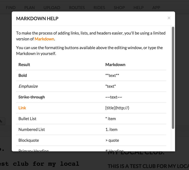 club-markdown-codes