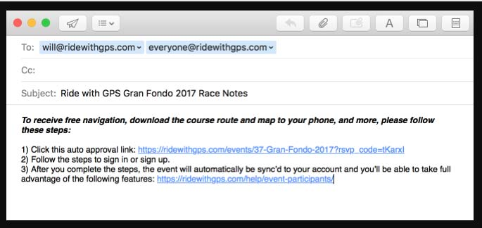 Part 4: Events | Ride With GPS Help