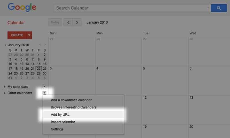 club-calendar-google-url