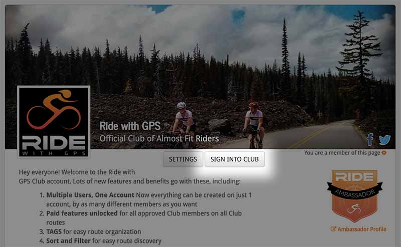 Club Account for Event Organizers | Ride With GPS Help