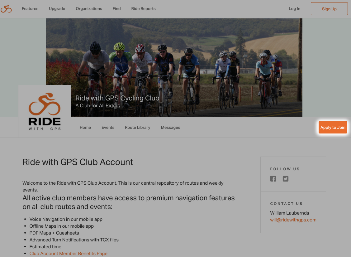 Club member benefits ride with gps help once a club member manager has approved you you will be added to the club and receive a confirmation email sciox Images