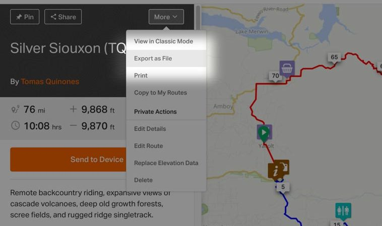 Export Routes to Garmin Device | Ride With GPS Help