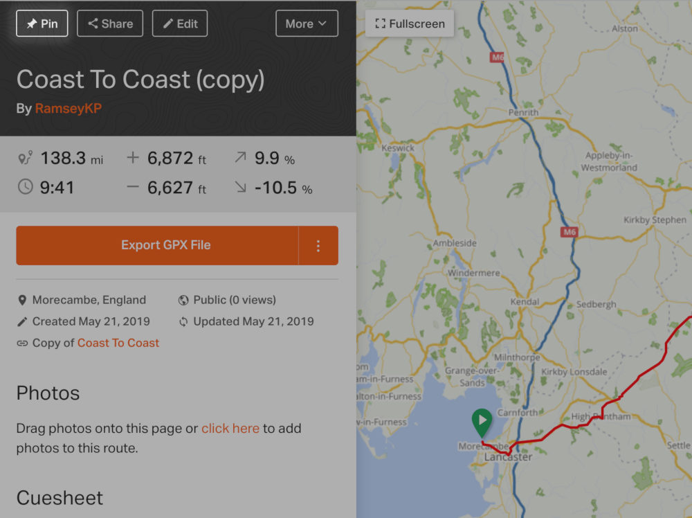 Pinning | Ride With GPS Help