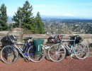 The bikes at Rocky Butte: Novara Randonne (l) and Surly Long Haul Trucker (r)