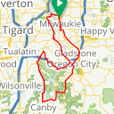 Map image of a Route from April 25, 2012