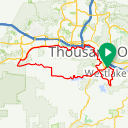 Map image of a Route from August 13, 2010