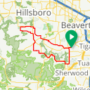 Map image of a Route from August 17, 2012