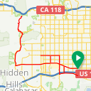 Map image of a Route from October  1, 2010