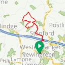 Map image of a Route from November 29, 2012