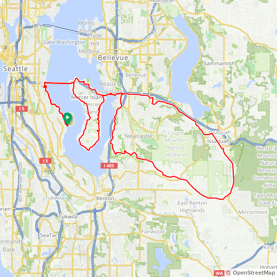 Leschi-May Valley-Issaquah Loop