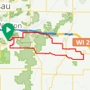 Map image of a Route from March 29, 2013