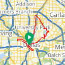 Map image of a Route from April  3, 2013