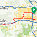 Map image of a Route from December  4, 2010