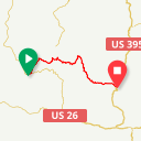 Map image of a Route from June 17, 2013