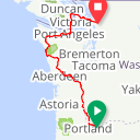 Map image of a Route from August 18, 2013