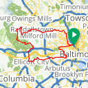 Map image of a Route from November 23, 2013
