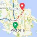 Map image of a Route from December  3, 2013