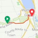 Map image of a Route from January 22, 2014