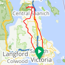 Map image of a Route from February 13, 2014