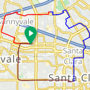 Map image of a Route from March  1, 2014
