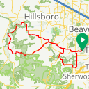 Map image of a Route from March 28, 2014