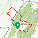 Map image of a Route from April  3, 2014
