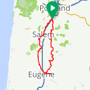 Map image of a Route from April 21, 2014