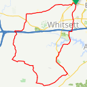 Map image of a Route from May  1, 2014