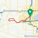 Map image of a Route from August 19, 2014