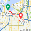 Map image of a Route from September 11, 2014