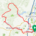 Map image of a Route from October  1, 2014