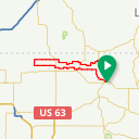 Map image of a Route from October 31, 2014