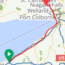 Map image of a Route from August 15, 2011