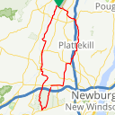 Map image of a Route from December 31, 2014