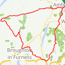 Map image of a Route from April 24, 2015