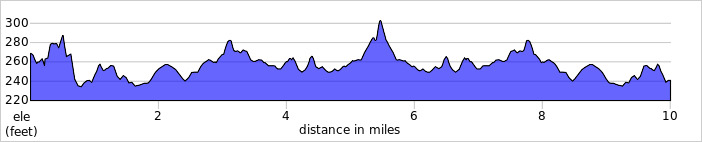 Elevation profile for L1010 Keswick 10