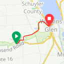 Map image of a Route from June  8, 2010
