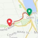 Map image of a Route from June  9, 2010