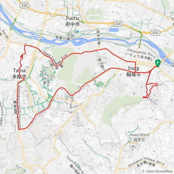 尾根幹線コースヒルクライムコース