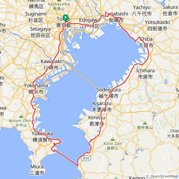 東京湾一周コース
