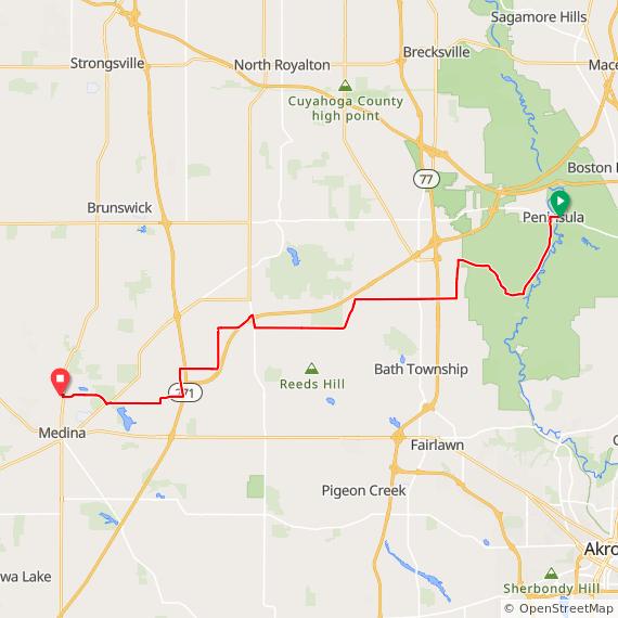 Tour de CC - Peninsula to Medina on Ride With GPS