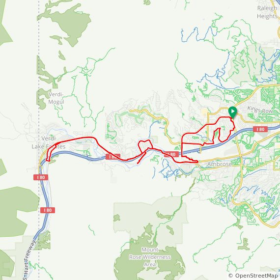 Map image of a Route from May  5, 2019