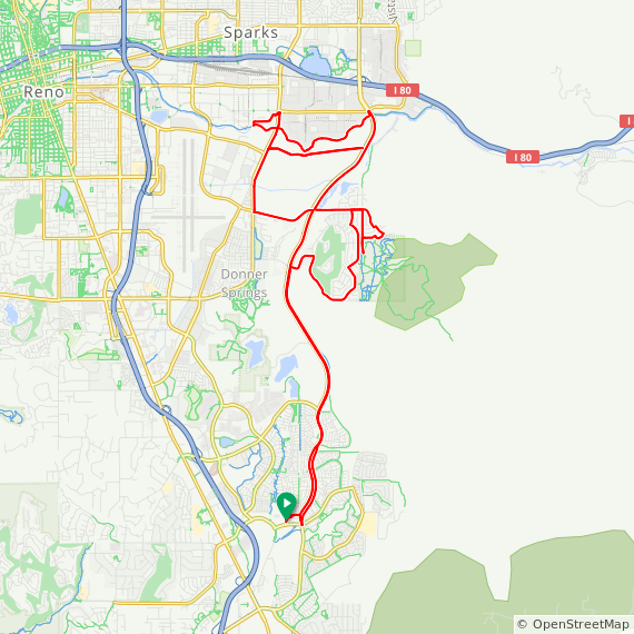 Map image of a Route from August 30, 2019