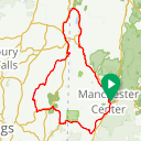 Map image of a Route from August 25, 2015