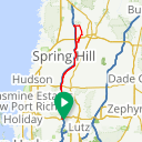 Map image of a Route from August 26, 2015
